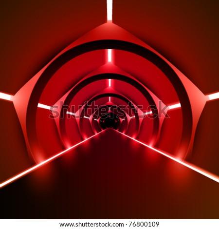 moderns vector runway/corridor illustration - stock vector