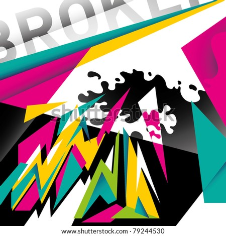 Modish designed abstraction in color. Vector illustration.