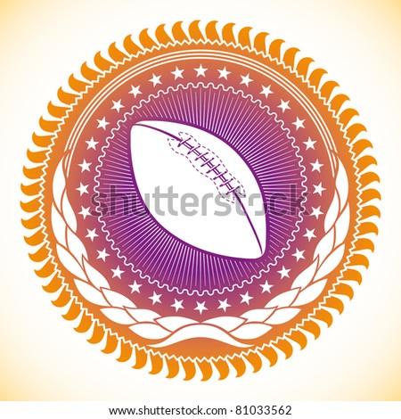 Modish illustrated american football emblem. Vector illustration. - stock vector