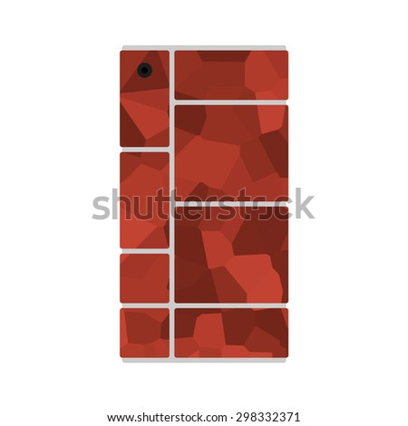 Modular smart phone with different modules rendering - stock vector