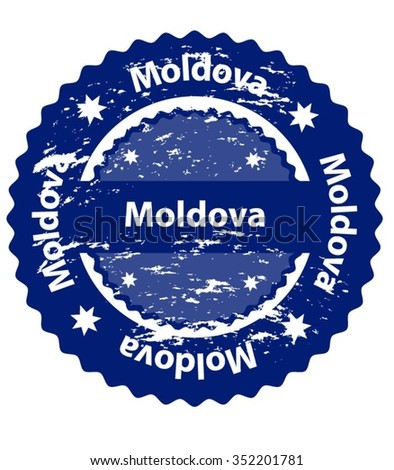 Moldova Country Grunge Stamp - stock vector