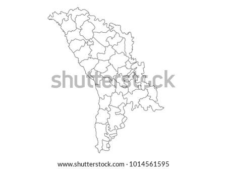 Moldova Region Map Stock Images RoyaltyFree Images Vectors - Moldova map outline
