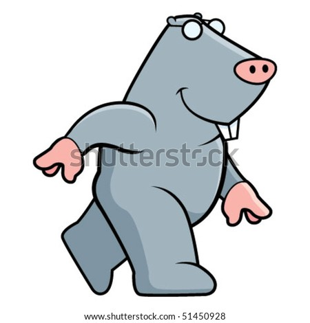 Mole Walking - stock vector