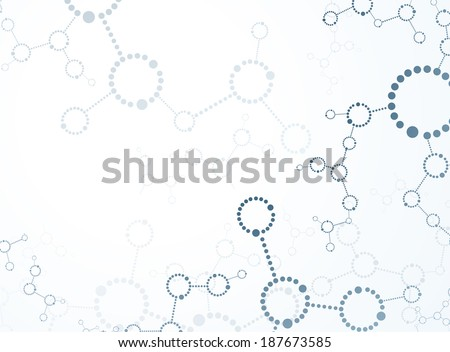 Molecular background  - stock vector