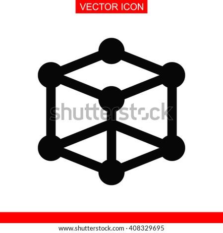 Molecular compound Icon.  - stock vector