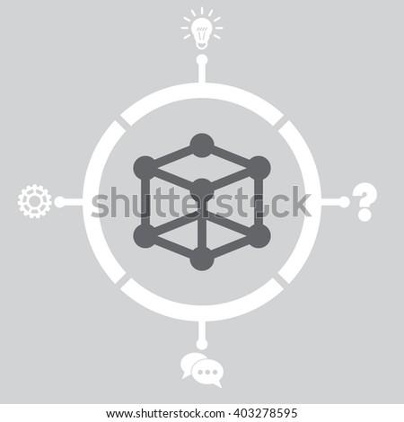 Molecular compound Icon. Molecular compound Icon Vector. Molecular compound Icon Object. Molecular compound Icon Picture. Molecular compound Icon Image. Molecular compound Icon Graphic. - stock vector