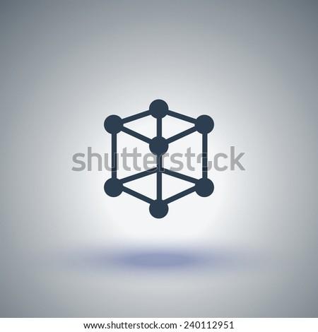 molecular compound vector icon - stock vector