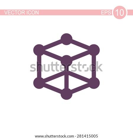 Molecular compound vector icon. - stock vector