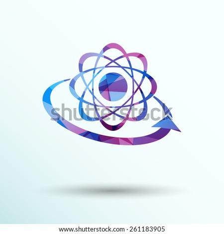 Molecular compound vector icon chemistry, molecular, medical  - stock vector