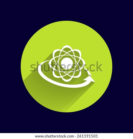 Molecular compound vector icon chemistry, molecular, medical  - stock vector