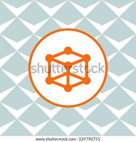 Molecular compound vector icon. Seamless background with geometric design. - stock vector