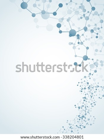 Molecular on isolated background .Vector - stock vector
