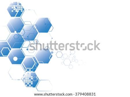 Molecular structure - stock vector