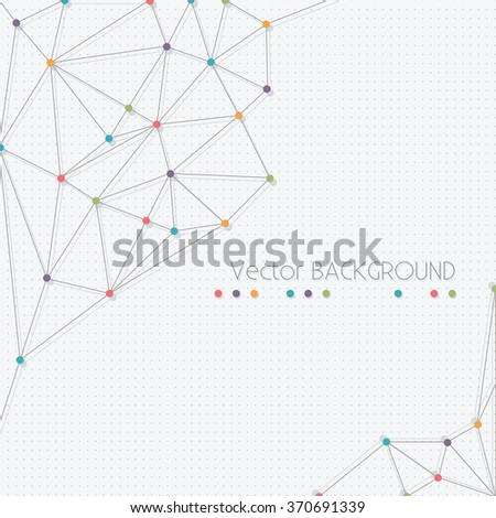 Molecular Structure Abstract Background - Vector eps10 - stock vector