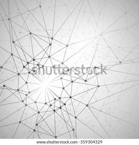 Molecular structure background - stock vector