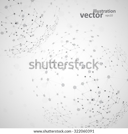 Molecular structure, network connection, abstract vector illustration eps10 - stock vector