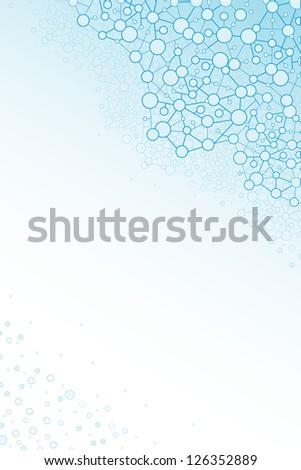 Molecular structure scientific vertical background - stock vector