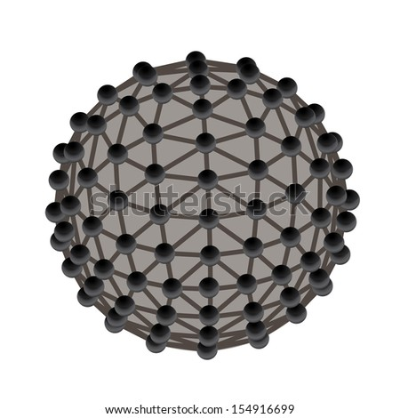 Molecular structure vector illustration. - stock vector