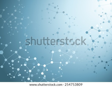Molecular structures background vector illustration - stock vector
