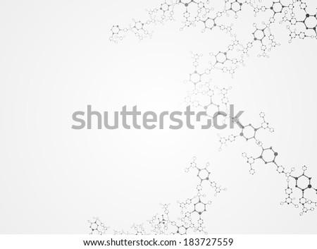 Molecular structures  vector - stock vector