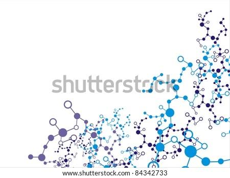 Molecule - stock vector