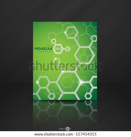 Molecule Abstract Banner.  Vector Illustration. Eps 10. - stock vector