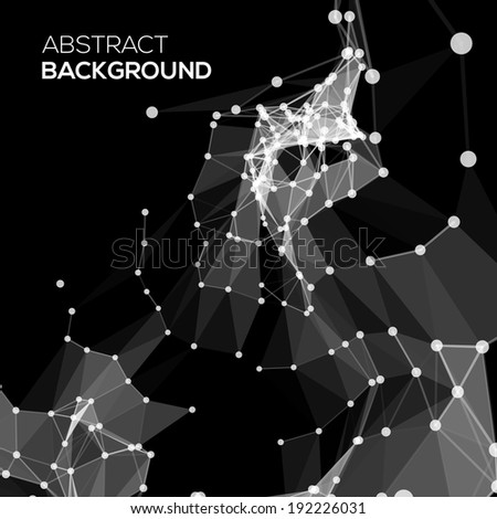 Molecule And Communication Background in black - stock vector