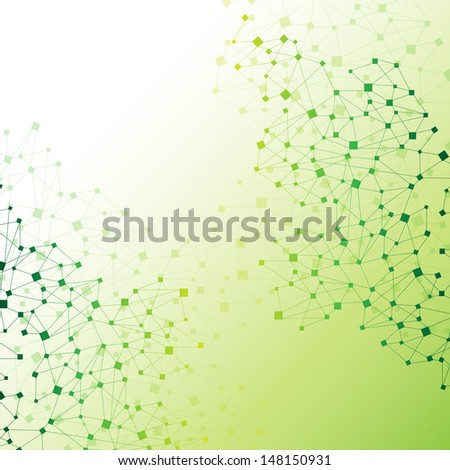 Molecule And Communication Background - Vector Illustration, Graphic Design Useful For Your Design - stock vector