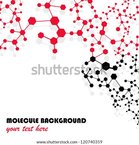 Molecule And Communication Isolated On White Background - Vector Illustration, Graphic Design Useful For Your Design - stock vector