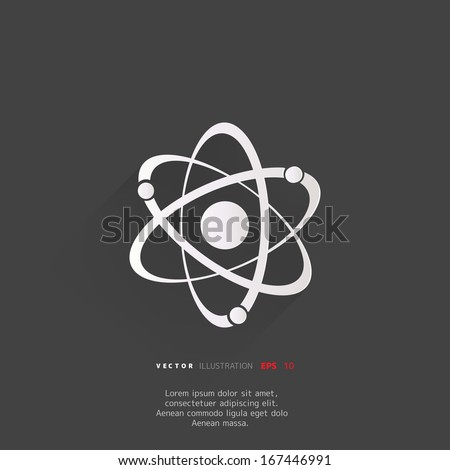 Molecule, atom icon - stock vector