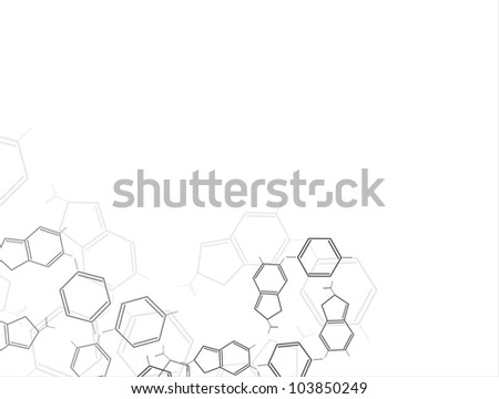Molecule background - stock vector