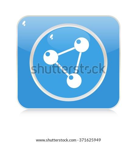 molecule button - stock vector