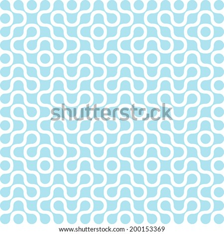 Molecule DNA Electronic Circuit Vector Background abstract. Technology Chip Seamless Pattern. Molecular structure texture. - stock vector