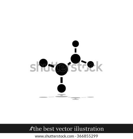 molecule  icon  - stock vector