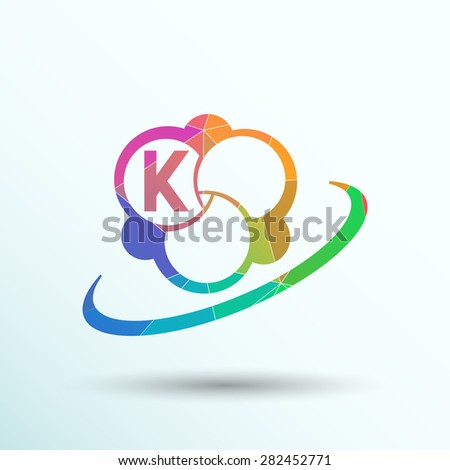 Molecule icon atom vector chemistry symbol element. - stock vector