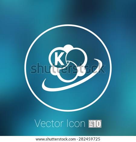 Molecule icon atom vector chemistry symbol element. - stock vector