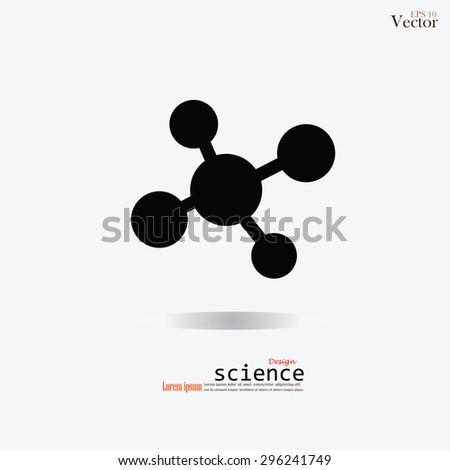 Molecule icon.molecule.science.vector illustration - stock vector