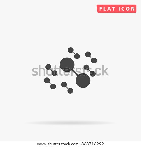 Molecule Icon Vector.