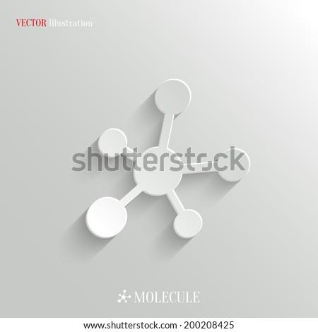 Molecule icon - vector education background with shadow - stock vector