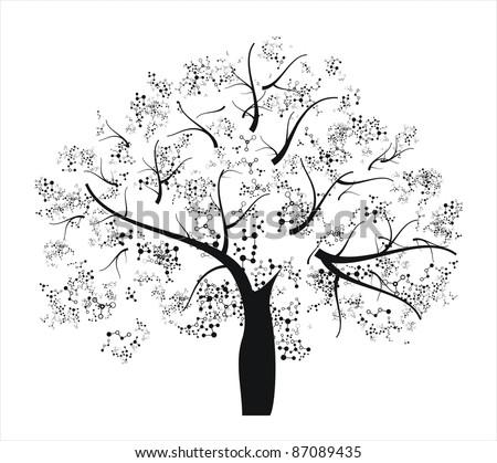 Molecule tree - stock vector