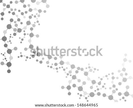 Molecule Vector background  - stock vector