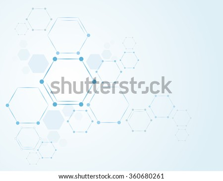 Molecules Concept and nervous system vector - stock vector