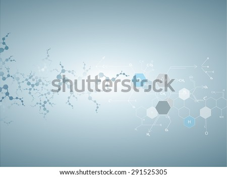 Molecules Concept of neurons and nervous system vector  - stock vector