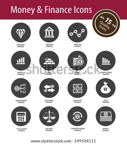 Money and Finance icons,vector - stock vector