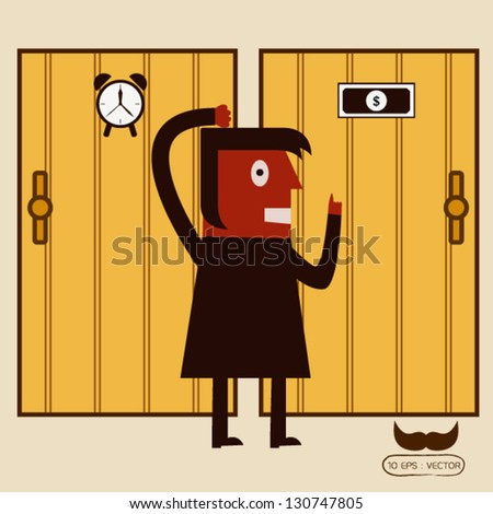 Money and time concept - stock vector