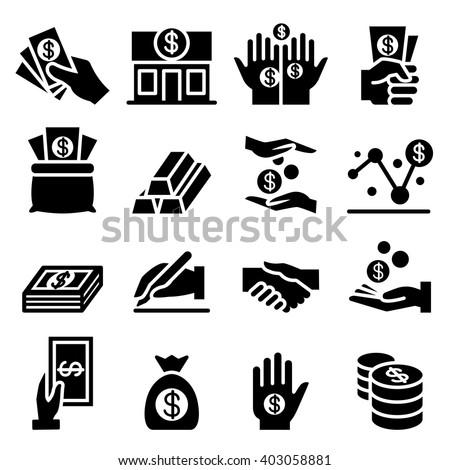 Money & Asset icon - stock vector