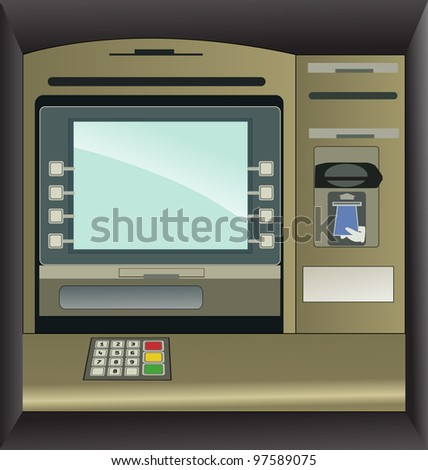 Money ATM - stock vector