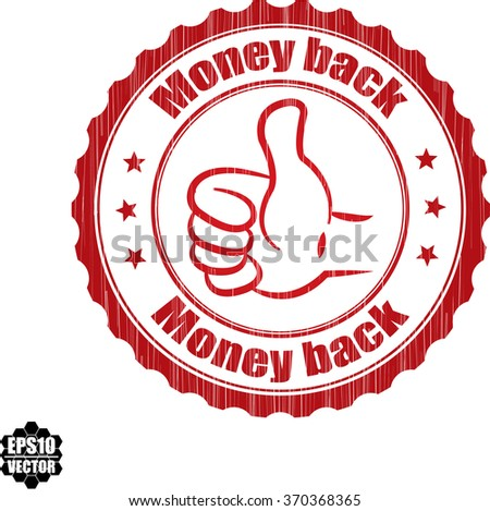 Money back grunge rubber stamp, vector illustration