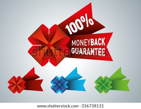 Money back guarantee business seal - stock vector