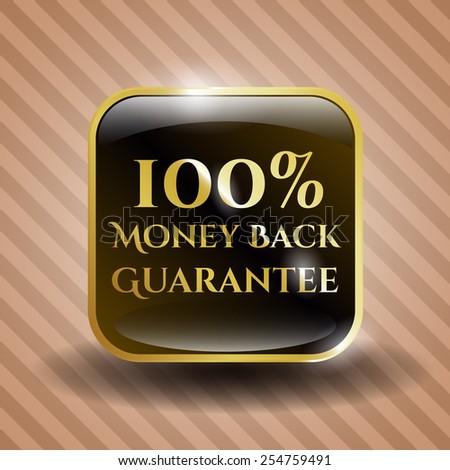 Money back guarantee shiny icon. - stock vector